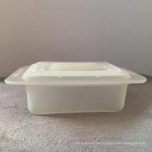 Recipiente de almacenamiento de alimentos en caja bento de silicona