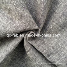 Tissu teint de fil de lin / coton (QF13-0751)