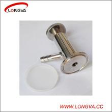 Válvula de muestra de triple abrazadera de acero inoxidable sanitario