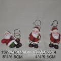 Ceramic Santa & star Christmas ornament