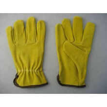 Yellow Pig Split Leather Driving Work Glove