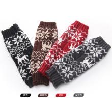 Las mujeres forman el calentador hecho punto acrílico del brazo de los guantes del invierno (YKY5451)