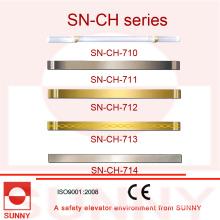 Pasamanos de la cabina del elevador con varios tipos de tamaño (SN-CH-710)