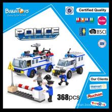 Oferta especial! Brinquedos de Natal 2015 carro de polícia bloco de construção veículo policial brinquedo brinquedo eletrônico