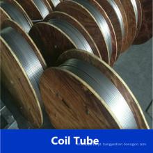Tubulação espiralada de aço inoxidável ASTM A269 304
