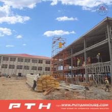 Entrepôt préfabriqué adapté aux besoins du client de structure métallique de conception à faible coût