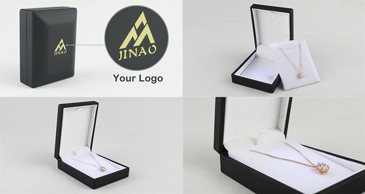 Custom logo LED light pendant jewelry box