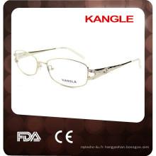 2017 New design fashion Lady métal optique lunettes, cadre optique en métal
