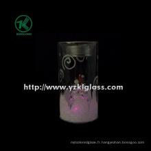 Coupe de bougie en verre pour décoration maison (6 * 6 * 11.5)