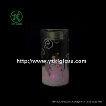 Glass Candle Cup for Home Decoration (6*6*11.5)