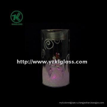 Стеклянная чашка свечки для домашнего украшения (6 * 6 * 11.5)