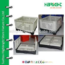 large plastic pallet storage bins