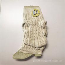 Jambières de style long extensibles tricotées en fibres acryliques