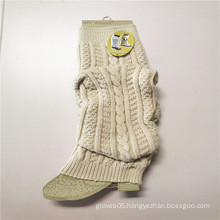 Acrylic Fibers Knitted Stretch Long Style Leg Warmers