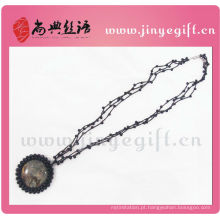 Shangdian Mão Crafted Gemstone Pingente Crochet Jóias