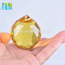 Bola colgante cristalina tallada barata al por mayor del sol para la decoración del árbol del Año Nuevo