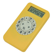 8 Digit Mini Novel Calculator with Circular Keypad