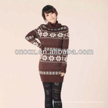 12STC0571 suéter de cuello de tortuga señora suéter