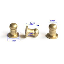 5mm Head Button Studs ScrewBack Studs
