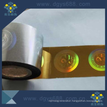 Hot Stamping Hologram Sticker in Roll