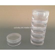 Small Plastic Jar PS Jar Stackable Lids