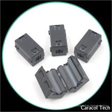 NiZn Magnet EMI Plastic Ferrite Core para cabos de linha