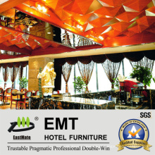 Painéis de teto de madeira de mobiliário ornamental de hotéis high-end (EMT-F1209)