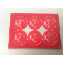 2 layer 1.6mm red solder touch sensor  pcb