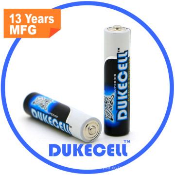 Batería alcalina AAA Lr03 1.5V para cepillo de dientes eléctrico