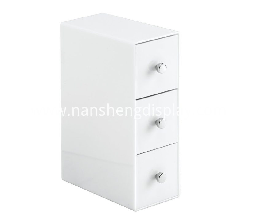 Vertical/Horizontal 3 Drawers Cosmetic Organizer Storage