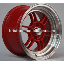 15 inch red replica bbs wheel rims