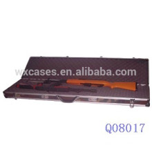 caja de arma militar de aluminio con espuma en el caso base y la parte inferior