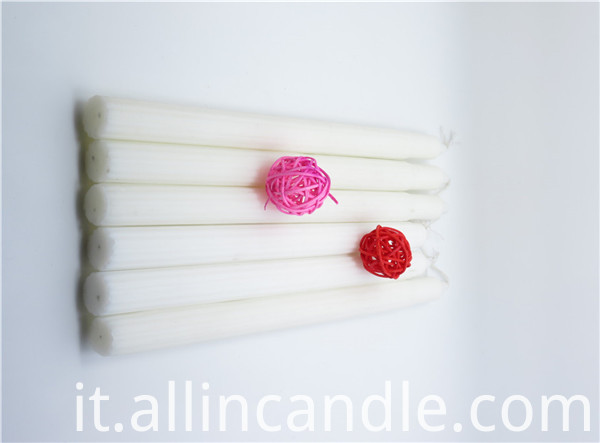 white wax candle