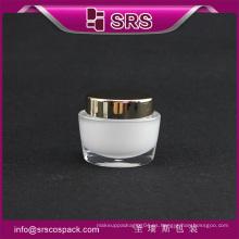 Cosméticos contenedor especial forma de cara crema jarra y vacía cosméticos tarros