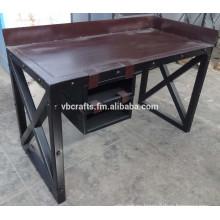 Writing Desk Metal Industrial Vintage Design