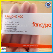 Offset printing transparent business cards fast