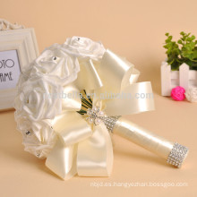 La fábrica de Suzhou vende al por mayor el ramo de la boda de la flor hermosa coloreada artificial