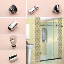 Sistema de puertas correderas de vidrio de 180 grados con cajas de alta calidad