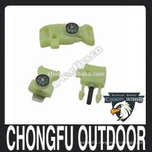 2015 NEW firestarter whistling buckles for paracord bracelet as camping equipment
