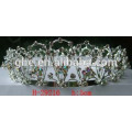 fashion bridal tiara gold crown pendants ring pull crown cap decoration small plastic crown