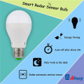 7W Built-in Microwave Sensor LED Light Bulb