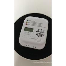 Detector de monóxido de carbono alimentado por bateria exibido em LCD