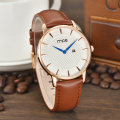 chinese brands oem leather mens wrist watch