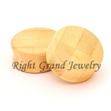 Organic Wood Double Flare Plug Bamboo Ear Plugs