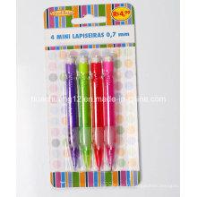 4PCS Mini crayon mécanique avec Eraser Au116