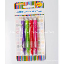 4PCS mini lápis mecânico com borracha Au116