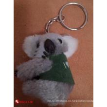 Llavero personalizado de la felpa del koala del diseño del OEM