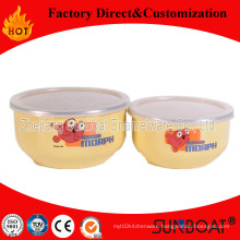 3 PCS Enamel Mixing Bowl Sunboat Kitchenware Food Storage