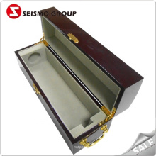 Hinge Lock Made-in-china Luxury Wooden Wine Box for Best
