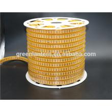Luz de tira del LED 2835 fila doble 60led 120led 180led Luz de tira llevada flexible del amarillo de la PCB AC220V de la prenda impermeable